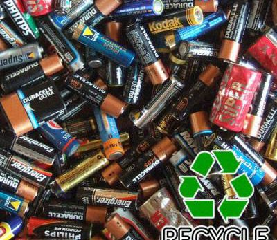 a pile of dead batteries