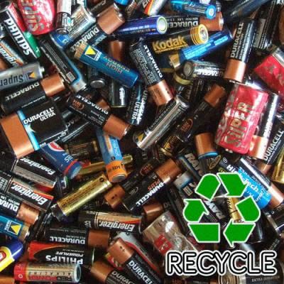 a pile of dead batteries