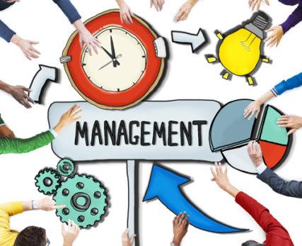 Aerial View of People and Time Management Concepts