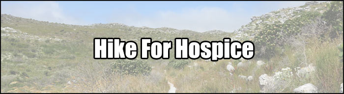hike for hospice banner
